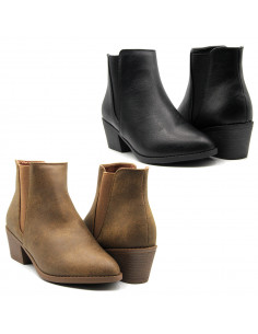 Women Ankle Faux Leather...