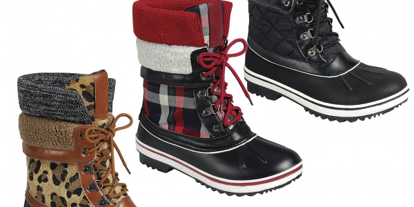 Women Mid Calf Warm Snow Duck Boots Sweater Cuff