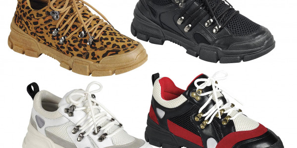 Women Lace Up Cool Military Style Outdoor Sneakers Shoes Thick Sole Hiking Ready