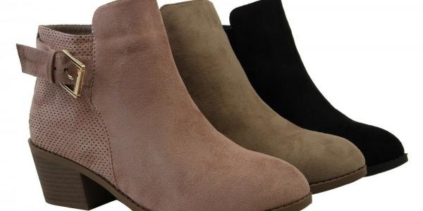 Women Side Zipper Stylish Design Mid Heels